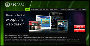image of the nnew regarri website